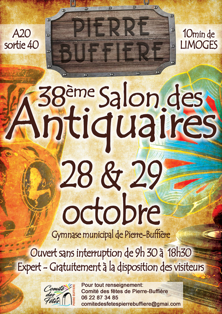 Affiche 38eme salon des Antiquaires