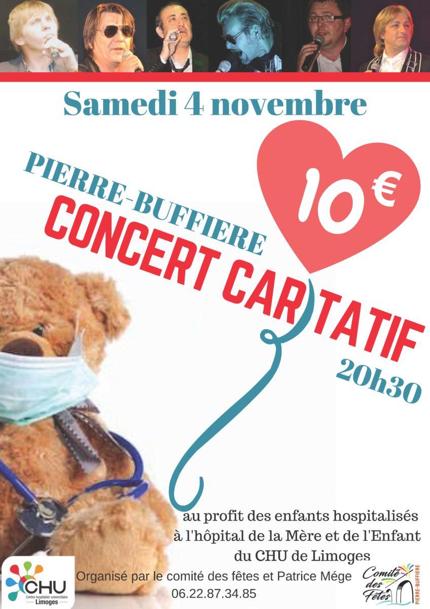 affiche concert caritatif
